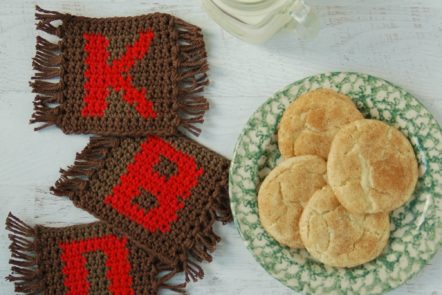 Check out this monogram mug rug crochet pattern. It makes a great gift!