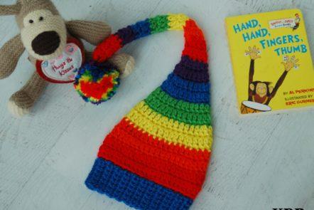 Crochet Rainbow Baby Hat